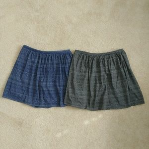 Old Navy Bottoms - 2 Girls Jaquard Knit Skirts